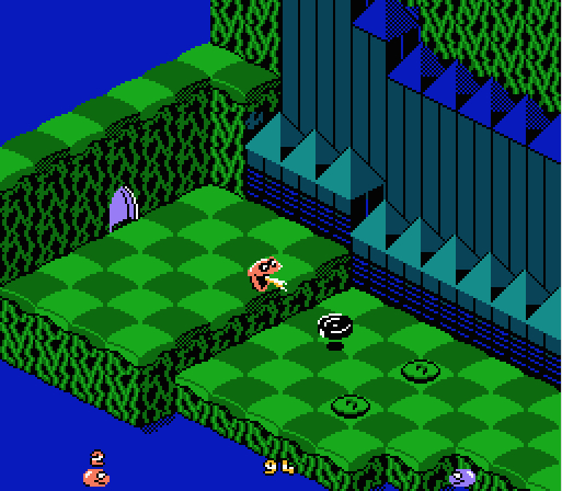 The first enemy you encounter: A jumping tire.
