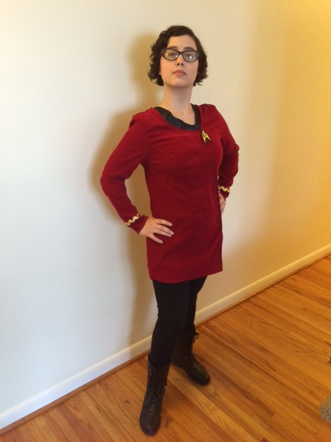 Lieutenant Sam, reporting for duty! (I was trying to channel my hero, Captain Janeway here, can you tell?)