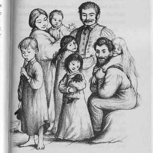 The happy Ingalls family